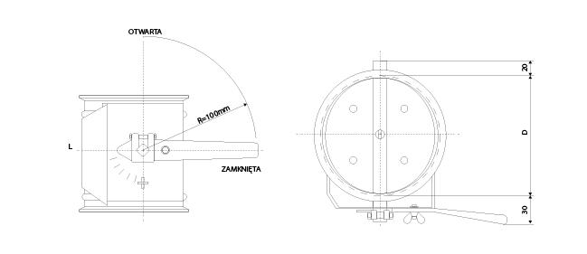 przepustnica regulacyjna ZWR1-P