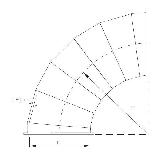 kolano segmentowe ZWR1-BF