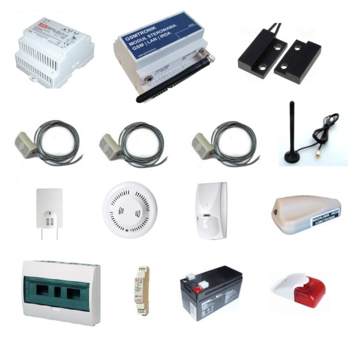 Pełny zestaw monitoringu serwerowni GSM-SERW-V1.03