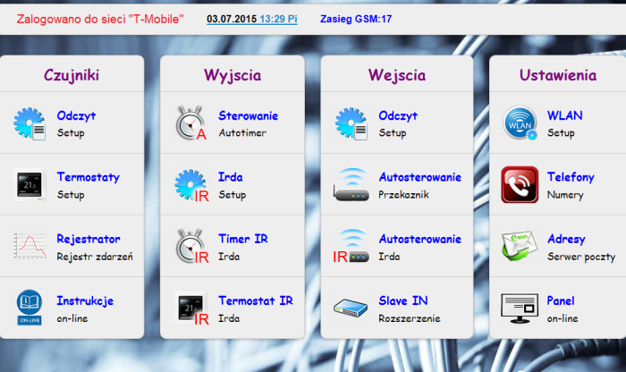NOWY PANEL GSM1.03