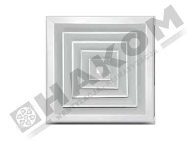 Anemostat czterostronny aluminiowy ASN4-al